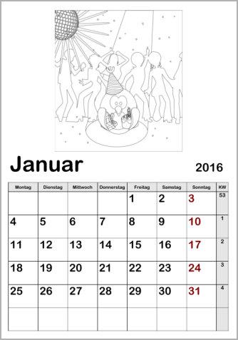 Kinderkalender 2019 zum Ausmalen online ausdrucken basteln