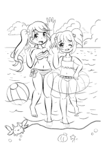 Yampuff Kleurplaat Malvorlagen Manga Anime Chibi
