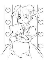 Tasche ausmalbild  Malvorlagen Manga Anime Chibi