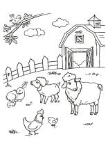 Vom Bauernhof Für Kinder Zum Ausmalen
