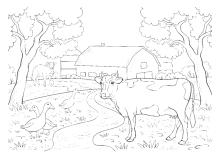 Malvorlagen Vom Bauernhof Für Kinder Zum Ausmalen