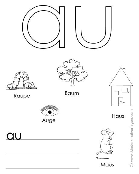 Alphabet lernen Buchstaben-Lernvorlagen
