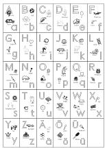 ABCBuchstabentafeln AZ ausdrucken Lerntafel