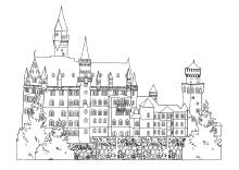 Malvorlagen Burgen Und Schlösser Ausmalen