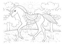 Ausmalbild Einhorn Fabelwesen Einhörner Unicorn