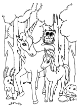 ausmalbild einhorn - fabelwesen einhörner unicorn