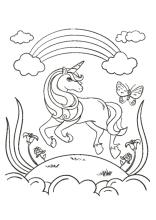 Ausmalbild Einhorn Fabelwesen Einhorner Unicorn