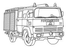 Feuerwehr Malvorlagen Ausmalbilder Feuerwehrauto Feuerwehrmann