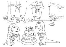 Ausmalbilder Zum Geburtstag Geburtstagstorte Kerzen Happy Birthday