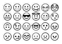 Malbilder Emojis Smileys Und Gesichter Ausdrucken