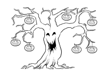 Ausmalbilder Halloween Kürbis Gespenster Hexen Vampire Monster