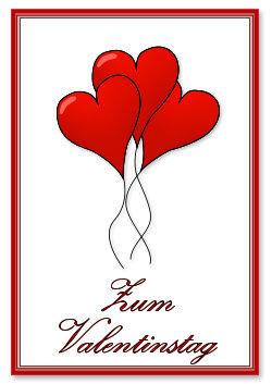 Luftballon Herzen Zum Valtinstag