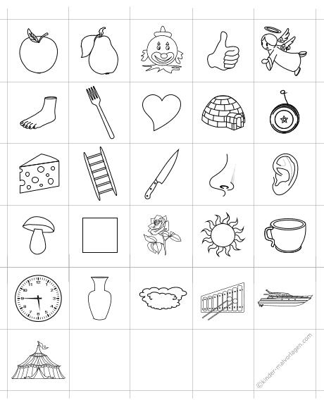 Memo-Spiel ausdrucken Memokarten ABC