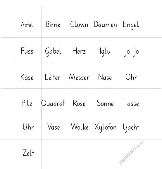 Unterrichtsmaterialien Deutschweizer Basisschrift Memo-Spielkarten