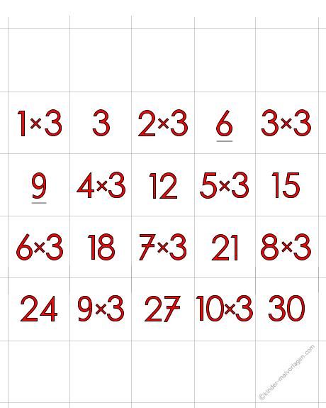 Zahlenmemospiel Mathe-Rechnen-Memokarten