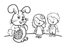 Ausmalbilder Ostern Osterhase Ostereier   Kinder Malvorlagen