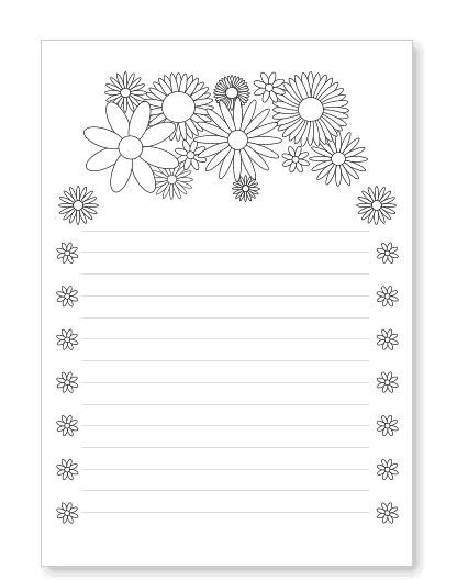 Blumenbriefpapier Zum Ausdrucken Mit Bluten