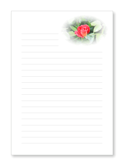 vorlage liniert briefpaper  osterbriefpapier zum