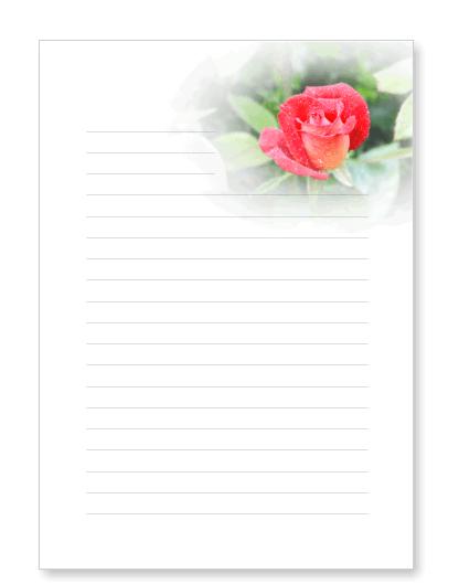 Blumenbriefpapier zum ausdrucken mit bl ten - Briefpapier vorlagen kostenlos ...