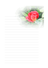 Briefpapier mit Rose
