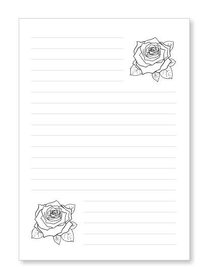 Blumenbriefpapier zum Ausdrucken mit Blüten