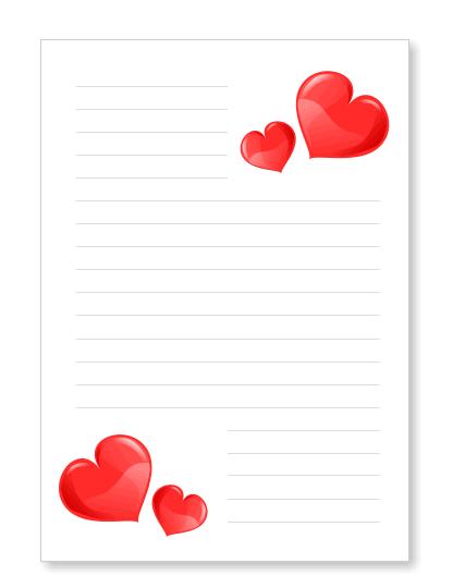 Briefpapier liebesbrief herzen kostenlos ausdrucken - Briefpapier vorlagen kostenlos ...