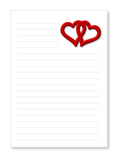 Brief Für Liebe : Briefpapier liebesbrief herzen kostenlos ausdrucken