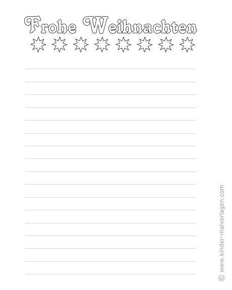 Schriftzug Frohe Weihnachten Zum Ausdrucken.Weihnachtsbriefpapier Zum Ausdrucken Und Ausmalen