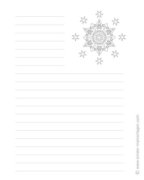 Weihnachtsbriefpapier zum ausdrucken und ausmalen - Briefpapier vorlagen kostenlos ...