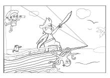 Ausmalbilder Piraten Seeräuber Schiffen