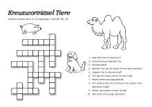 Kostenlose Kreuzworträtsel für Kinder