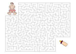 kinder rätsel - labyrinthe, irrgarten-vorlagen zum