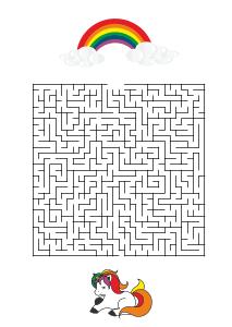 kinder rätsel - labyrinthe, irrgarten-vorlagen zum ausdrucken für kinder