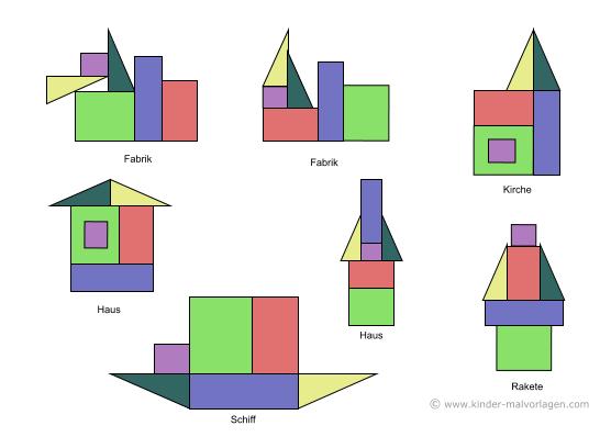 Legespiel Tangram Vorlagen Ausdrucken Ausschneiden