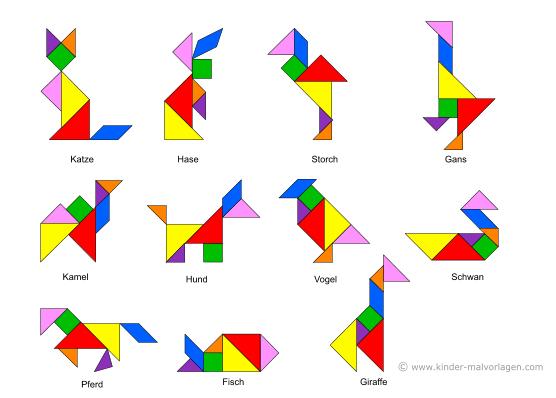 legespiel tangram vorlagen ausdrucken ausschneiden. Black Bedroom Furniture Sets. Home Design Ideas