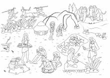 Ausmalbilder Steinzeit Hohlenmenschen Fur Kinder
