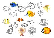 Ausdrucken bunt zum fische Fische basteln