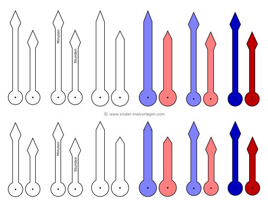 Uhren und Uhrzeit - Arbeitsblätter Lernuhr basteln