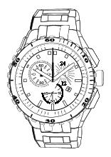 Armbanduhr ausmalbild  Uhren und Uhrzeit - Arbeitsblätter Lernuhr basteln