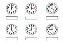 Uhr lernen arbeitsblätter  Uhren und Uhrzeit - Arbeitsblätter Lernuhr basteln