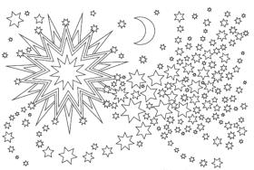 Weihnachtssterne Ausmalbilder Sterne zu Weihnachten ausdrucken