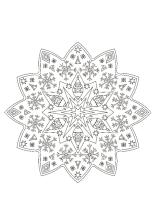 Weihnachten Mandala Ausmalbilder.Weihnachtsmandala Ausdrucken Ausmalen