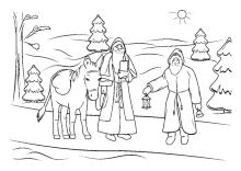 Ausmalbilder Frohe Weihnachten.Ausmalbilder Zu Weihnachten Weihnachtsmann Nikolaus Und