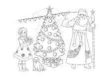 ausmalbilder zu weihnachten, weihnachtsmann, nikolaus und adventszeit.