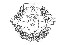 ausmalbilder zu weihnachten weihnachtsmann nikolaus und. Black Bedroom Furniture Sets. Home Design Ideas