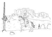 Wilder Westen Ausmalen Cowboys Und Indianer
