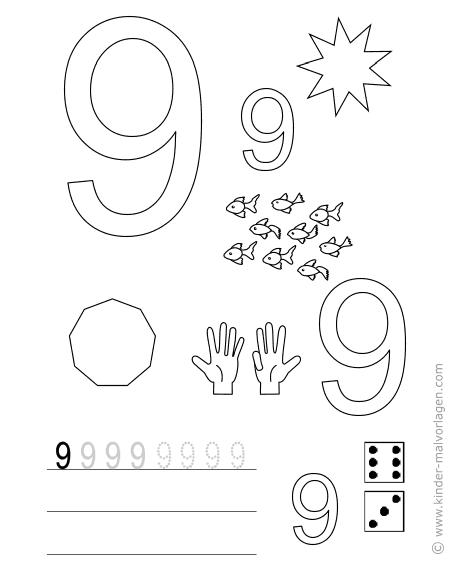 zahlen lernen z hlen bungsbl tter ausdrucken. Black Bedroom Furniture Sets. Home Design Ideas