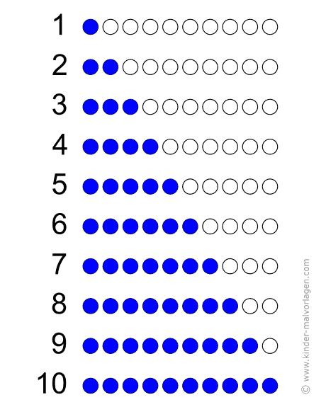 lernen zählen Übungsblätter ausdrucken