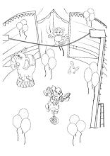 Zirkus Ausmalbilder Zirkuszelt Clowns Artisten Tiere