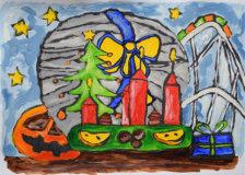 Kinderkunst Online Galerie Ausgemalte Bilder